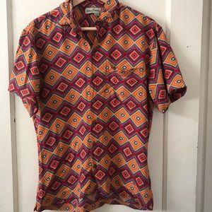 Vintage Kenny Flowers Diamond Short Sleeve Shirt